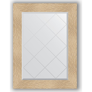 Зеркало с гравировкой поворотное Evoform Exclusive-G 66x89 см, в багетной раме - золотые дюны 90 мм (BY 4107)