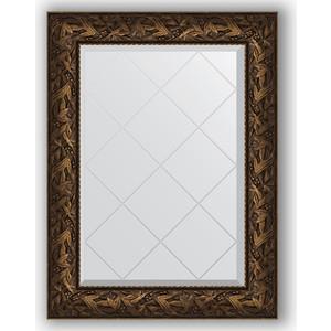 Зеркало с гравировкой поворотное Evoform Exclusive-G 69x91 см, в багетной раме - византия бронза 99 мм (BY 4115)