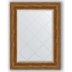 Зеркало с гравировкой поворотное Evoform Exclusive-G 69x91 см, в багетной раме - травленая бронза 99 мм (BY 4118) зеркало с гравировкой evoform exclusive g 99x174 см в багетной раме травленое серебро 99 мм by 4418