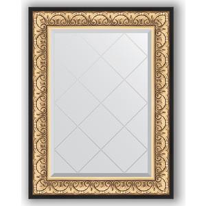 Зеркало с гравировкой поворотное Evoform Exclusive-G 70x92 см, в багетной раме - барокко золото 106 мм (BY 4122) зеркало с гравировкой поворотное evoform exclusive g 80x135 см в багетной раме барокко золото 106 мм by 4251