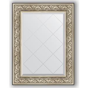 Зеркало с гравировкой поворотное Evoform Exclusive-G 70x92 см, в багетной раме - барокко серебро 106 мм (BY 4123) зеркало с гравировкой поворотное evoform exclusive g 80x135 см в багетной раме барокко золото 106 мм by 4251
