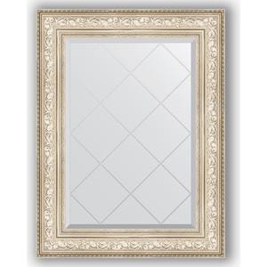 Зеркало с гравировкой поворотное Evoform Exclusive-G 70x93 см, в багетной раме - виньетка серебро 109 мм (BY 4125)