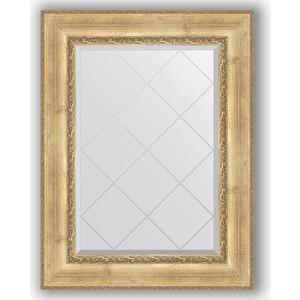 Зеркало с гравировкой поворотное Evoform Exclusive-G 72x95 см, в багетной раме - состаренное серебро с орнаментом 120 мм (BY 4127) зеркало с гравировкой evoform exclusive g 102x127 см в багетной раме состаренное серебро с орнаментом 120 мм by 4385