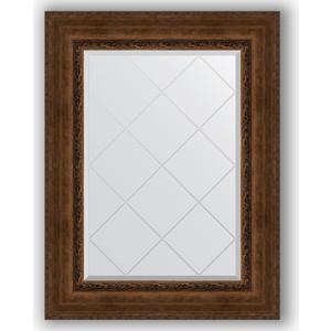 Зеркало с гравировкой поворотное Evoform Exclusive-G 72x95 см, в багетной раме - состаренная бронза с орнаментом 120 мм (BY 4128)