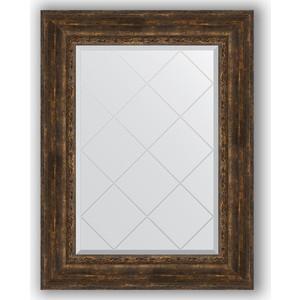 Зеркало с гравировкой поворотное Evoform Exclusive-G 72x95 см, в багетной раме - состаренное дерево с орнаментом 120 мм (BY 4129)