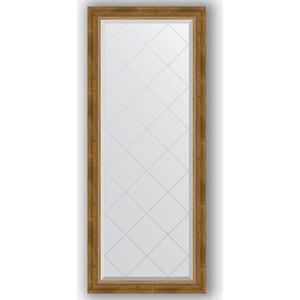 Зеркало с гравировкой поворотное Evoform Exclusive-G 63x153 см, в багетной раме - состаренная бронза с плетением 70 мм (BY 4133) зеркало с фацетом в багетной раме поворотное evoform exclusive 53x83 см прованс с плетением 70 мм by 3407