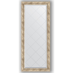 Зеркало с гравировкой поворотное Evoform Exclusive-G 63x153 см, в багетной раме - прованс с плетением 70 мм (BY 4134) зеркало с фацетом в багетной раме поворотное evoform exclusive 53x83 см прованс с плетением 70 мм by 3407
