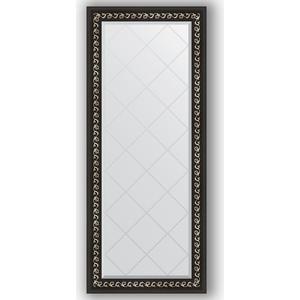 Фото - Зеркало с гравировкой поворотное Evoform Exclusive-G 65x154 см, в багетной раме - черный ардеко 81 мм (BY 4139) зеркало напольное с гравировкой поворотное evoform exclusive g floor 110x199 см в багетной раме черный ардеко 81 мм by 6348