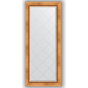 Зеркало с гравировкой поворотное Evoform Exclusive-G 66x156 см, в багетной раме - римское золото 88 мм (BY 4146)