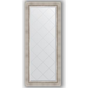 Зеркало с гравировкой поворотное Evoform Exclusive-G 66x156 см, в багетной раме - римское серебро 88 мм (BY 4147) зеркало с гравировкой поворотное evoform exclusive g 56x126 см в багетной раме римское серебро 88 мм by 4061