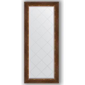 Зеркало с гравировкой поворотное Evoform Exclusive-G 66x156 см, в багетной раме - римская бронза 88 мм (BY 4148) зеркало с гравировкой поворотное evoform exclusive g 56x74 см в багетной раме римская бронза 88 мм by 4019