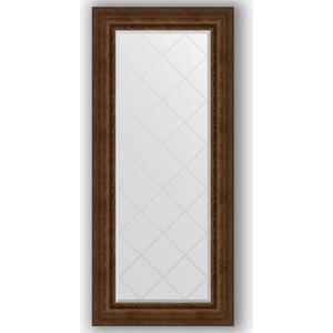 Зеркало с гравировкой поворотное Evoform Exclusive-G 72x162 см, в багетной раме - состаренная бронза с орнаментом 120 мм (BY 4171)
