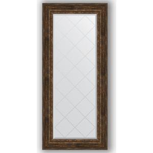 Зеркало с гравировкой поворотное Evoform Exclusive-G 72x162 см, в багетной раме - состаренное дерево с орнаментом 120 мм (BY 4172)