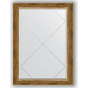 Зеркало с гравировкой Evoform Exclusive-G 73x101 см, в багетной раме - состаренная бронза с плетением 70 мм (BY 4176)  - купить со скидкой