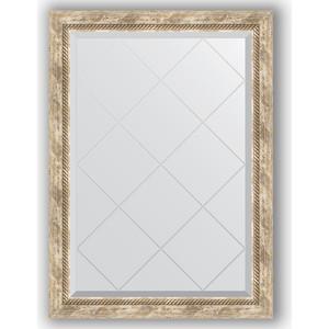 Зеркало с гравировкой поворотное Evoform Exclusive-G 73x101 см, в багетной раме - прованс с плетением 70 мм (BY 4177) зеркало с фацетом в багетной раме поворотное evoform exclusive 53x83 см прованс с плетением 70 мм by 3407