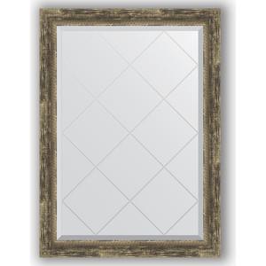 Зеркало с гравировкой Evoform Exclusive-G 73x101 см, в багетной раме - старое дерево с плетением 70 мм (BY 4178) si4178dy si4178 4178 sop8