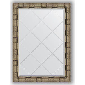 Зеркало с гравировкой Evoform Exclusive-G 73x101 см, в багетной раме - серебряный бамбук 73 мм (BY 4179)  - купить со скидкой