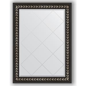 Фото - Зеркало с гравировкой поворотное Evoform Exclusive-G 75x102 см, в багетной раме - черный ардеко 81 мм (BY 4182) зеркало напольное с гравировкой поворотное evoform exclusive g floor 110x199 см в багетной раме черный ардеко 81 мм by 6348