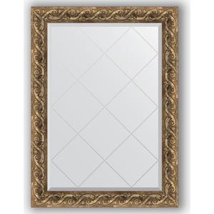Зеркало с гравировкой поворотное Evoform Exclusive-G 76x103 см, в багетной раме - фреска 84 мм (BY 4184) колье elixa el122 4184