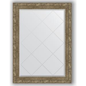 Зеркало с гравировкой поворотное Evoform Exclusive-G 75x102 см, в багетной раме - виньетка античная латунь 85 мм (BY 4188)