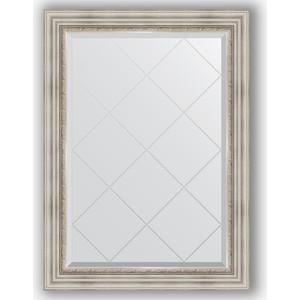 Зеркало с гравировкой поворотное Evoform Exclusive-G 76x104 см, в багетной раме - римское серебро 88 мм (BY 4190) зеркало с гравировкой поворотное evoform exclusive g 66x156 см в багетной раме римское серебро 88 мм by 4147