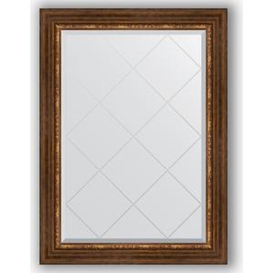 Зеркало с гравировкой поворотное Evoform Exclusive-G 76x104 см, в багетной раме - римская бронза 88 мм (BY 4191) зеркало с гравировкой поворотное evoform exclusive g 56x74 см в багетной раме римская бронза 88 мм by 4019