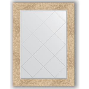 Зеркало с гравировкой поворотное Evoform Exclusive-G 76x104 см, в багетной раме - золотые дюны 90 мм (BY 4193)