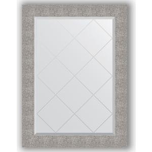 Зеркало с гравировкой Evoform Exclusive-G 76x104 см, в багетной раме - чеканка серебряная 90 мм (BY 4195)  - купить со скидкой