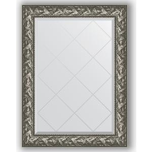 Зеркало с гравировкой Evoform Exclusive-G 79x106 см, в багетной раме - византия серебро 99 мм (BY 4200)  - купить со скидкой