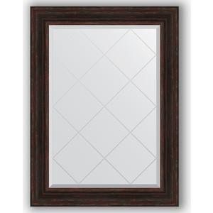 Зеркало с гравировкой поворотное Evoform Exclusive-G 79x106 см, в багетной раме - темный прованс 99 мм (BY 4205) зеркало с гравировкой evoform exclusive g 99x174 см в багетной раме травленое серебро 99 мм by 4418