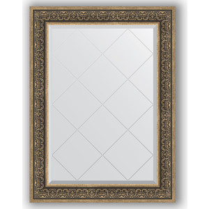 Зеркало с гравировкой поворотное Evoform Exclusive-G 79x106 см, в багетной раме - вензель серебряный 101 мм (BY 4207)