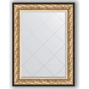 Зеркало с гравировкой поворотное Evoform Exclusive-G 80x107 см, в багетной раме - барокко золото 106 мм (BY 4208) зеркало с гравировкой поворотное evoform exclusive g 80x135 см в багетной раме барокко золото 106 мм by 4251