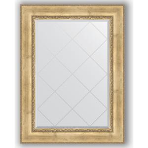 Зеркало с гравировкой поворотное Evoform Exclusive-G 82x110 см, в багетной раме - состаренное серебро с орнаментом 120 мм (BY 4213) зеркало с гравировкой поворотное evoform exclusive g 82x110 см в багетной раме состаренная бронза с орнаментом 120 мм by 4214
