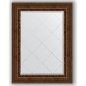 Зеркало с гравировкой поворотное Evoform Exclusive-G 82x110 см, в багетной раме - состаренная бронза с орнаментом 120 мм (BY 4214)