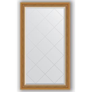 Зеркало с гравировкой поворотное Evoform Exclusive-G 73x128 см, в багетной раме - состаренное золото с плетением 70 мм (BY 4217) зеркало с фацетом в багетной раме поворотное evoform exclusive 53x83 см прованс с плетением 70 мм by 3407