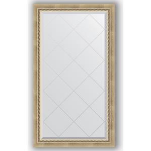 Зеркало с гравировкой Evoform Exclusive-G 73x128 см, в багетной раме - состаренное серебро с плетением 70 мм (BY 4218)