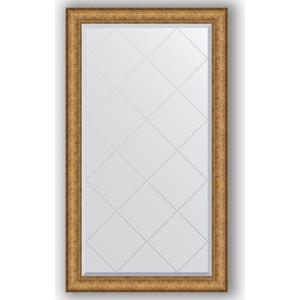 Зеркало с гравировкой поворотное Evoform Exclusive-G 74x128 см, в багетной раме - медный эльдорадо 73 мм (BY 4223) зеркало с гравировкой evoform exclusive g 64x86 см в багетной раме медный эльдорадо 73 мм by 4094