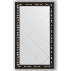 Зеркало с гравировкой поворотное Evoform Exclusive-G 75x129 см, в багетной раме - черный ардеко 81 мм (BY 4225) зеркало напольное с гравировкой поворотное evoform exclusive g floor 110x199 см в багетной раме черный ардеко 81 мм by 6348
