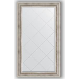 Зеркало с гравировкой поворотное Evoform Exclusive-G 76x131 см, в багетной раме - римское серебро 88 мм (BY 4233) зеркало с гравировкой поворотное evoform exclusive g 66x156 см в багетной раме римское серебро 88 мм by 4147