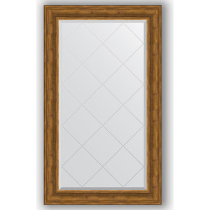 Зеркало с гравировкой поворотное Evoform Exclusive-G 79x134 см, в багетной раме - травленая бронза 99 мм (BY 4247) зеркало с гравировкой evoform exclusive g 99x174 см в багетной раме травленое серебро 99 мм by 4418