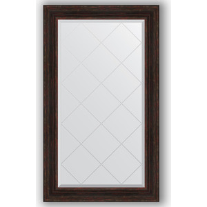 Зеркало с гравировкой поворотное Evoform Exclusive-G 79x134 см, в багетной раме - темный прованс 99 мм (BY 4248) 1 g 99 99