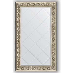 Зеркало с гравировкой поворотное Evoform Exclusive-G 80x135 см, в багетной раме - барокко серебро 106 мм (BY 4252) зеркало с гравировкой поворотное evoform exclusive g 80x135 см в багетной раме барокко золото 106 мм by 4251