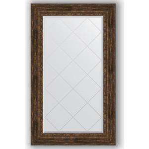 Зеркало с гравировкой поворотное Evoform Exclusive-G 82x137 см, в багетной раме - состаренное дерево с орнаментом 120 мм (BY 4258)