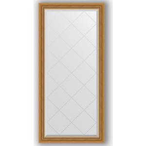 Зеркало с гравировкой Evoform Exclusive-G 73x155 см, в багетной раме - состаренное золото с плетением 70 мм (BY 4260)