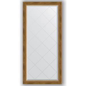 Зеркало с гравировкой поворотное Evoform Exclusive-G 73x155 см, в багетной раме - состаренная бронза с плетением 70 мм (BY 4262)