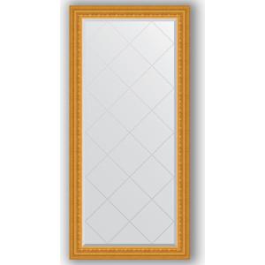 Зеркало с гравировкой поворотное Evoform Exclusive-G 75x157 см, в багетной раме - сусальное золото 80 мм (BY 4267) зеркало с гравировкой поворотное evoform exclusive g 130x184 см в багетной раме сусальное золото 80 мм by 4482