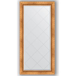 Зеркало с гравировкой поворотное Evoform Exclusive-G 76x158 см, в багетной раме - римское золото 88 мм (BY 4275) цены