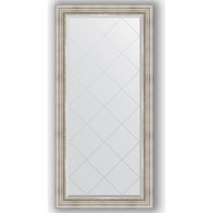Зеркало с гравировкой поворотное Evoform Exclusive-G 76x158 см, в багетной раме - римское серебро 88 мм (BY 4276) зеркало с гравировкой поворотное evoform exclusive g 66x156 см в багетной раме римское серебро 88 мм by 4147