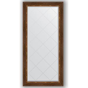 Зеркало с гравировкой поворотное Evoform Exclusive-G 76x158 см, в багетной раме - римская бронза 88 мм (BY 4277) зеркало с гравировкой поворотное evoform exclusive g 56x74 см в багетной раме римская бронза 88 мм by 4019