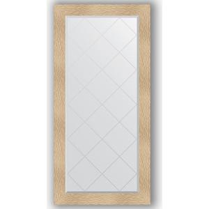 Зеркало с гравировкой поворотное Evoform Exclusive-G 76x158 см, в багетной раме - золотые дюны 90 мм (BY 4279)